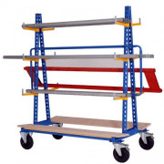 Cantilever mobile stockage horizontal