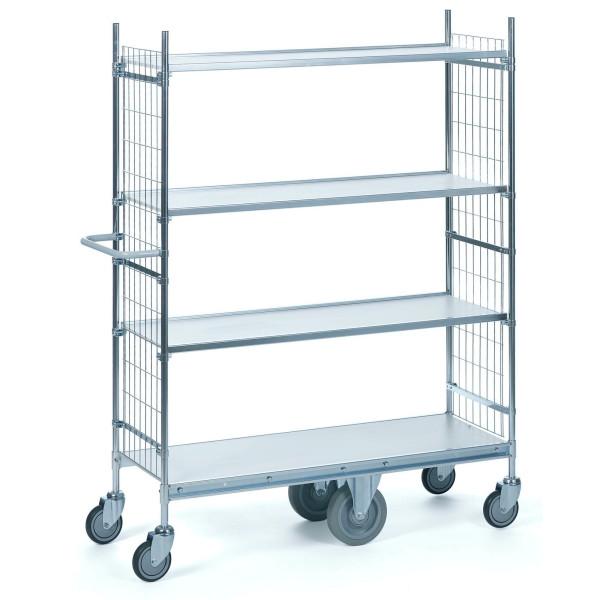 chariot haut 4 plateaux et roues porteuses chariots de. Black Bedroom Furniture Sets. Home Design Ideas