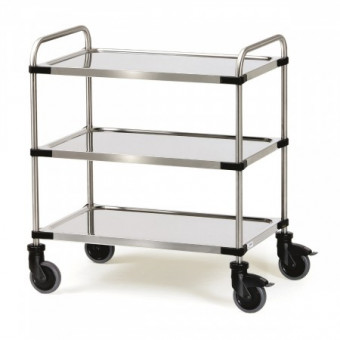 Chariot inox 3 plateaux